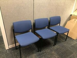 Lot Of 10 Stack Guest lobby Chair By Steelcase Office Furniture In Blue Fabric