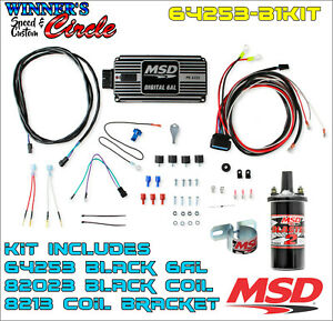 Msd 64253 6al Ignition Kit Black Includes Box Coil And Bracket
