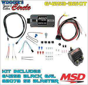 Msd 64253 B2kit Msd 6al Ignition Kit Black Includes Box And Coil