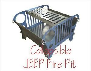 Dxf Cnc Plasma Laser Cut Ready Vector Collapsible Jeep Type Fire Pit With Bonus