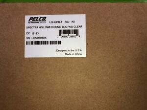 Pelco Ldhqpb 1 Spectra Hq Lower Dome Blk Pnd Clear