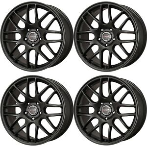 Drag Wheels Dr 37 20x8 5 5x120 30 Flat Black Rims For Honda Passport Pilot Rid