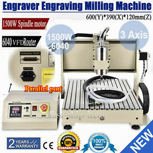 Cnc Router 3 Axis 6040 Engraving Mill Engraver Metal Wood Cut Machine 1 5kw Vfd