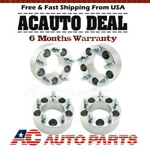 4 Pcs 2 Wheel Spacers Adapters 5x4 5 1 2 x20 Studs For Ford Dodge Jeep
