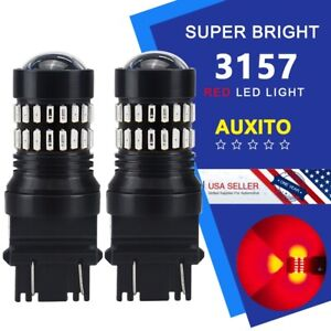48h Red Hd Projector 3157 3057 3156 3457 Led Brake Tail Stop Light Bulb For Ford