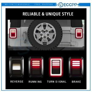 Led Tail Lights Brake Turn Signal Smoke Dynamic For Jeep Wrangler Jk 2007 2017
