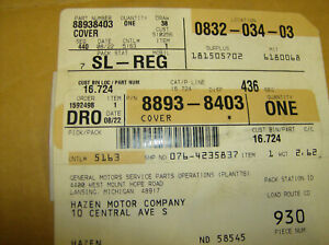Genuine Gm 88938403 Front Bucket Seat Upper Cover