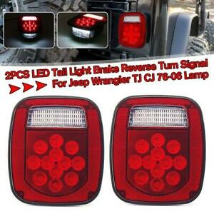 2x 39led Stop Turn Tail Stud Stop Lights For Jeep Cj Yj Tj Truck Trailer Boat Rv