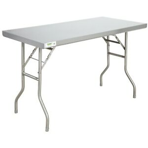 Commercial 24 X 48 Stainless Steel Folding Work Prep Table Open Kitchen Nsf