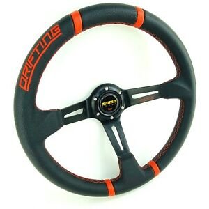 Deep Dish Steering Wheel For Momo Hub 350mm Drifting Omp Boss Kit Sport Racing