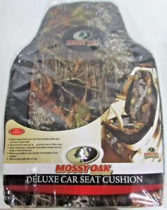 817 1299 Mossy Oak Brand Camo Deluxe Car Seat Cushion set Of 2 846571066478