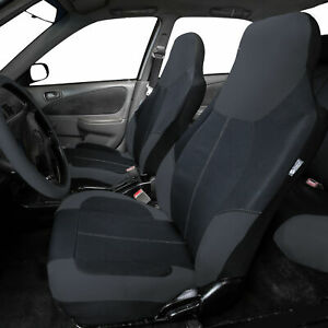 Neoprene Highback Front Bucket Seat Covers For Car Suv Van Black