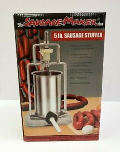 New The Sausage Maker 5 Lb Sausage Stuffer 50510 Stainless Steel Buffalo Ny