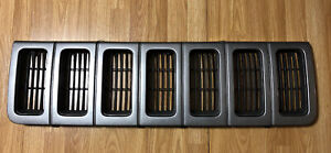 1996 1998 Jeep Grand Cherokee Zj Dark Gray Grey Front Grille Grill Insert
