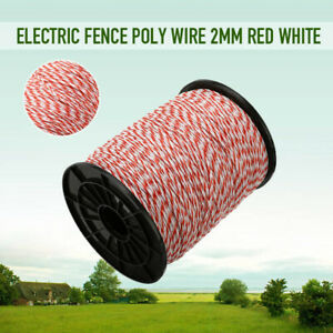 Electric Fence Poly Wire 500m Red White Polywire With Steel For Horse Sheep