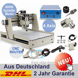 4 Axis Cnc Router 6040 Engraver 400w Pcb Metal Wood Cutting Mill Drill Machine