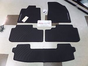 Toyota Highlander 08 13 Factory All Weather Rubber Floor Mats W 3rd Genuine Oem