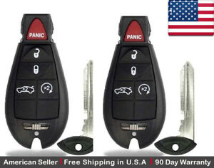 2x New Replacement Keyless Entry Remote Control Key Fob For Dodge Chrysler