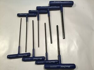 Blue point By Snap on Awcg1600b T handle Hex Wrench Set 8 Pc 3 32 1 4 fre Ship
