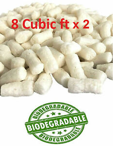 Polycyber Biodegradable Packaging Peanuts 16 Cubic Ft White