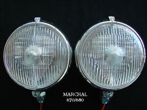 Marchal 670 680 Driving Lights With Clear 55watt Bulbs
