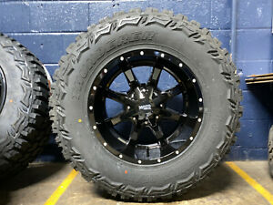 18x10 Black Moto Metal Mo970 35 Mt Wheels Rims Tires 6x5 5 Chevy Silverado 1500