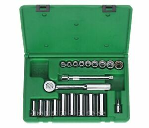 Sk Tools 4551 3 8 Drive Socket Wrench Set Sae 21 Piece New