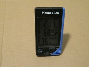 Market Lab Ml4040 Traceable Thermometer Clock Humidity Monitor Marketlab