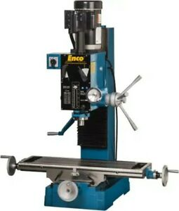 Enco Mill Drill Combination Table 37 1 2 x 28 2hp 220v 1phase 6 Speed W stand