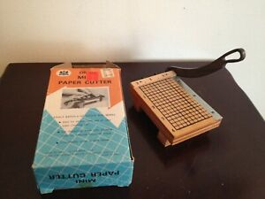Vintage Mini Paper Cutter In Original Box Dated 1969 Works Perfect Must See