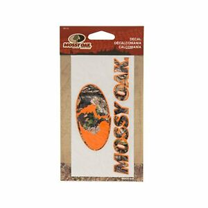 Mossy Oak Window Decal 6 Logo Hunting Orange For Truck Car Rv Mde1249 Pack Of 2