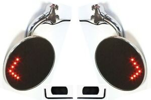 Led Peep Mirrors 4 Clamps To Door Edge Rearview Exterior Adjustable Tint Mopar