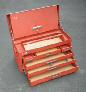 Kennedy Mechanics Tool Box 260 26 X 12 X 14 6 Drawers 1 Tray 1 Key