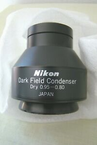Nikon Optiphot Labophot Dry Dark Field Condenser 0 95 0 80 Na