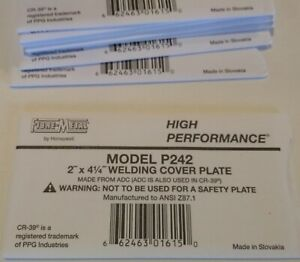 Lot Of 10 P242 Fibre Metal Clear Welding Cover Plates Ansi Z87 1
