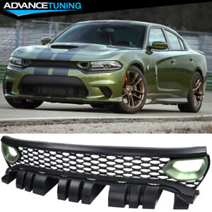 Painted Fits 15 19 Dodge Charger Srt Scat Pack Style Front Grille With Air Duct