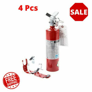 4 Pcs 2 5 Lb Fire Extinguisher Abc Dry Chemical Rechargeable Dot Vehicle Bracket