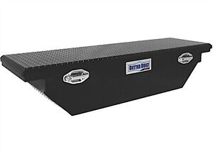 Better Built 79211057 Sec 63 Black Aluminum Crossover Wedge Truck Tool Box