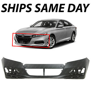 New Primered Front Bumper Cover Fascia For 2018 2019 2020 Honda Accord Sedan