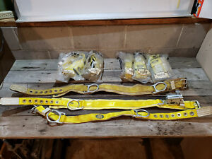 Lot Of 8 Miller Fall Protection Safety Belts Small Med Lineman Tree Pole Climb