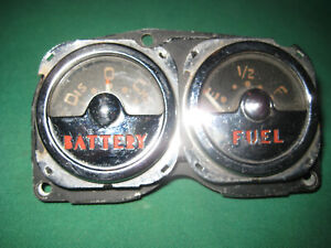 Vintage Automotive Battery fuel Gauge Set Ac Made In Usa Nice
