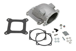 Holley 300 240 Throttle Body Adapter Elbow Aluminum Natural Universal