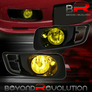 Jdm Bumper Lamps Fog Lights switch Yellow Lens For 1999 2000 Honda Civic Si