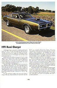 1971 Dodge Charger 426 Hemi Article Must See