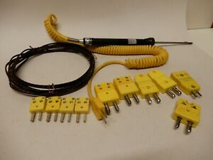Omega Type K Thermocouple Probe With Type K Connectors 9 Plus Unknown Tcouple Wi
