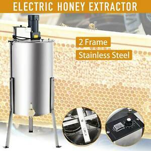 2 Frames Electric Honey Extractor Bee Honey Extraction Separator Drum W Stand