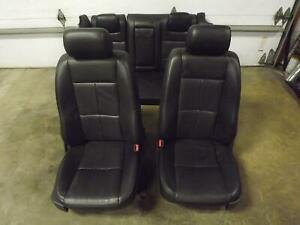 07 Lincoln Mkz Black Leather Seat Set Bucket Electric Front Rear Oem