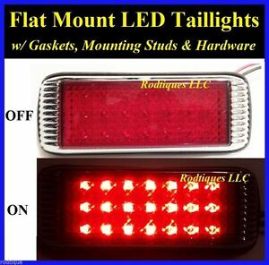Flat Mount Red Led Taillights Brake Tail Turn Signal Dune Buggy Sandrail 41fr