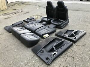 03 06 Porsche Cayenne 955 Sport Seats Set With Extended Leather Door Panels Blk