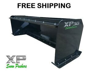 8 Xp30 Black Snow Pusher W pullback Bar Skid Steer Loader Free Shipping